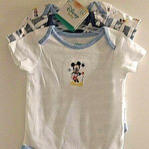 Disney Baby 3 Pc Onesies